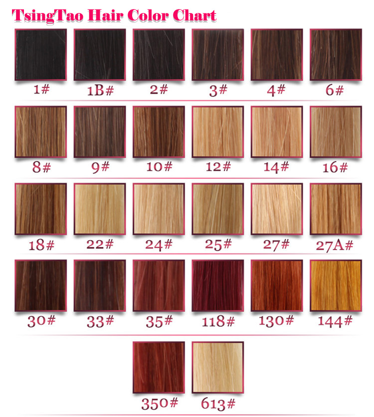 Lace Wigs Hair Color Chart